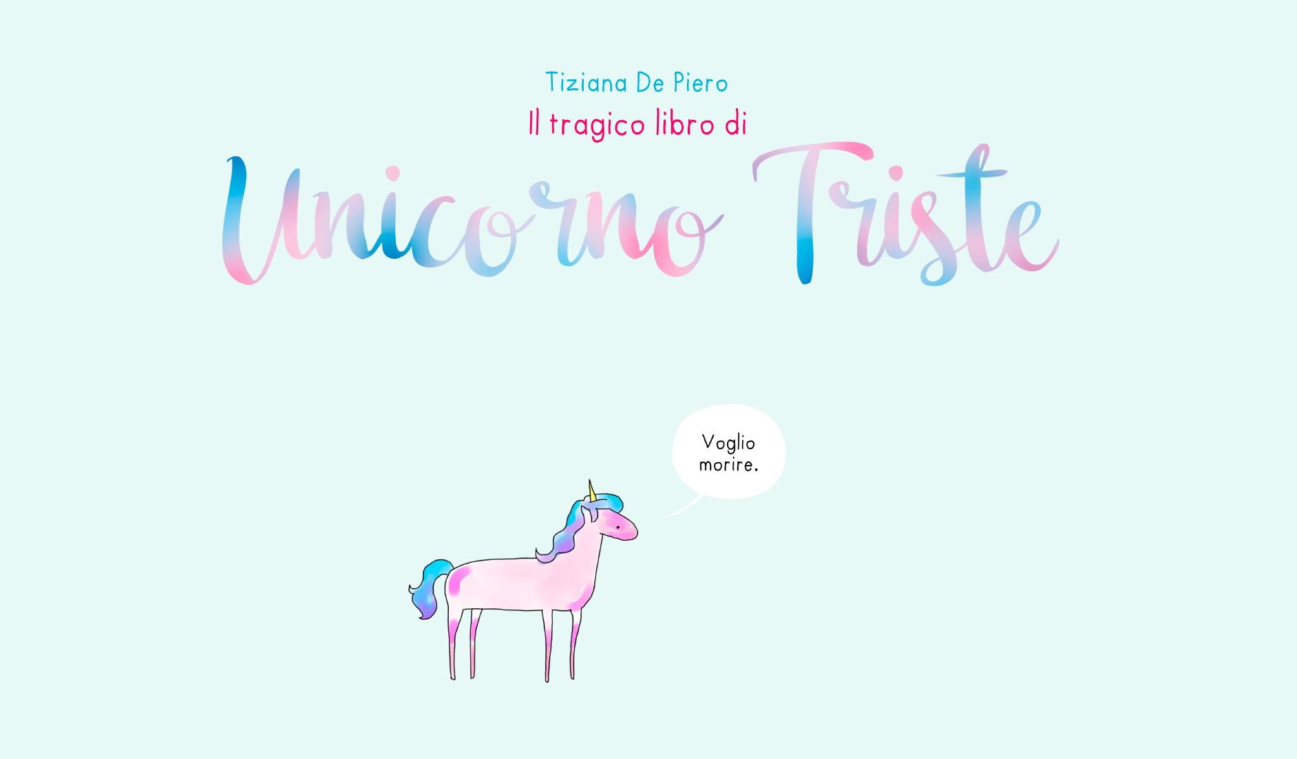 Unicorno triste da webcomic a volume cartaceo for Unicorno triste